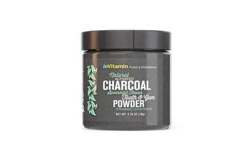 Invitamin  Invitamin charcoal teeth whitening poeder Spearmint
