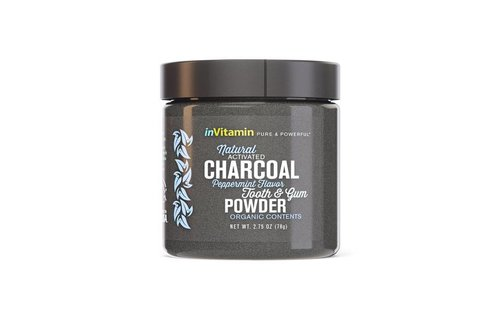 Invitamin  Invitamin charcoal teeth whitening poeder peppermint
