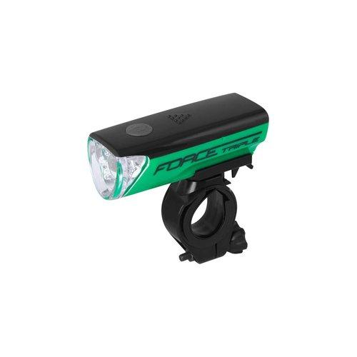 FORCE TRIPLE LED FRONT LIGHT (GREEN)