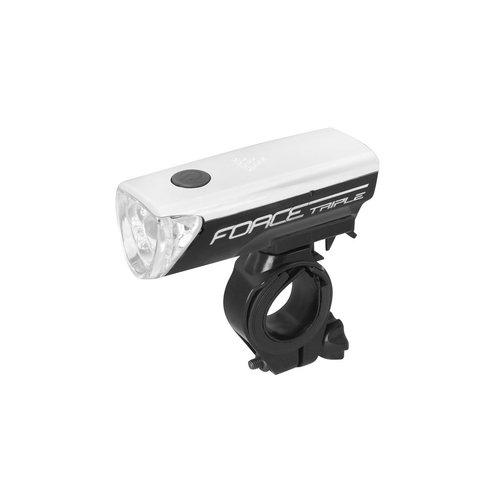 FORCE TRIPLE LED FRONT LIGHT (BLACK)