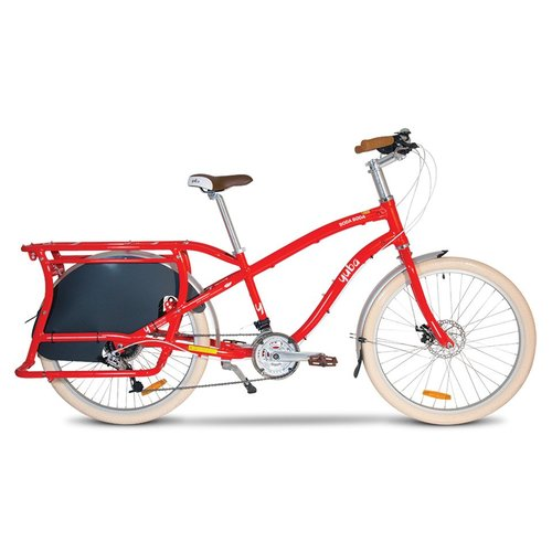 YUBA BODA BODA STEP-OVER COMPACT CARGO BIKE (RED)