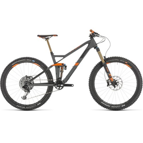 CUBE CUBE STEREO 140 HPC TM 27.5 GREY/ORANGE 2019