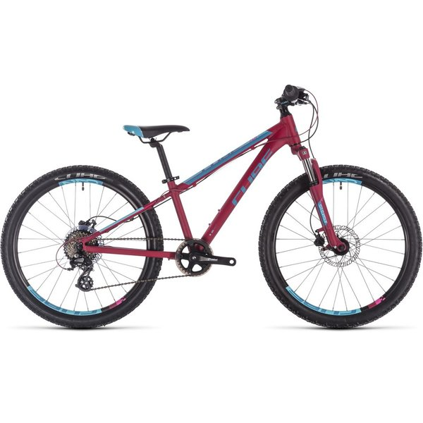 CUBE ACCESS 240 DISC BERRY/AQUA/PINK 2019 24""