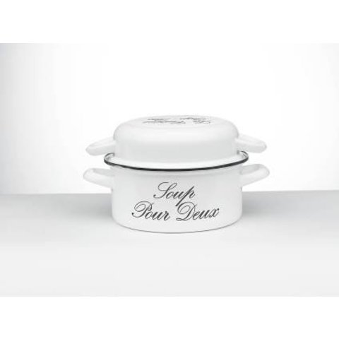 soep stamppotpan - emaille - Ø 24 cm. - wit 'Riviera'