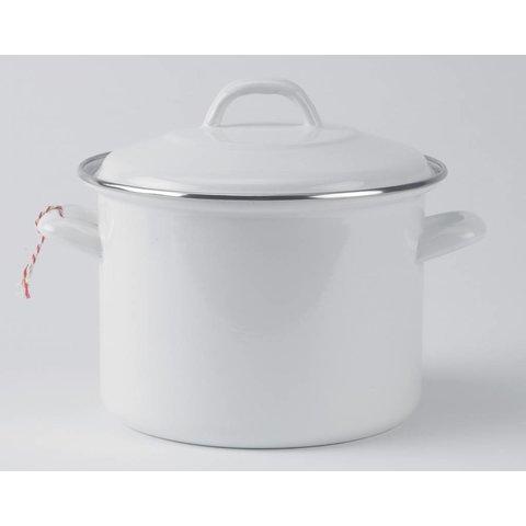 Soeppan  inductie - 4 liter - Ø 22cm wit emaille - soepmaker