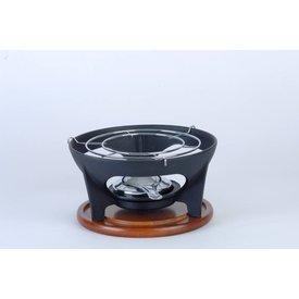 laviro Rechaud gietijzer geschikt voor kaasfondue pan - Caquelon , fonduepan of wokpan