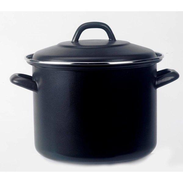 Laviro - Holland Soeppan - winterkost pan  8 Liter - Ø 26cm - emaille -  mat - zwart