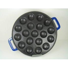 Relance Poffertjesplaat - poffertjespan - 19 pofs - gietijzer - glanzend blauw
