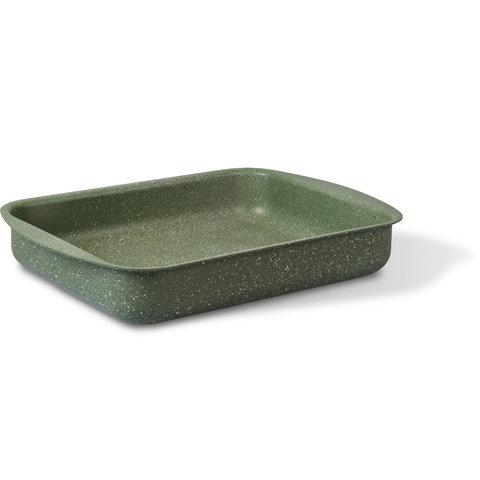 Natura 100% recycled ovenschaal braadslede 35x27cm - met PFOS-PFOA vrije groene anti-kleeflaag coating Vegetek