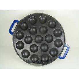 Relance Relance poffertjespan - Blauw -Inductie - 19 pofs - gietijzer -