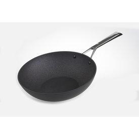 TVS Relance TVS Wokpan - Ø 28 cm -  Materia - mat zwart - met krasvaste anti-kleef coating - RVS koud greep