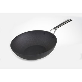 TVS Relance Wok wokpan - Materia - inductie - Ø 28 cm  - zwart - met anti-kleeflaag - stay-cool greep