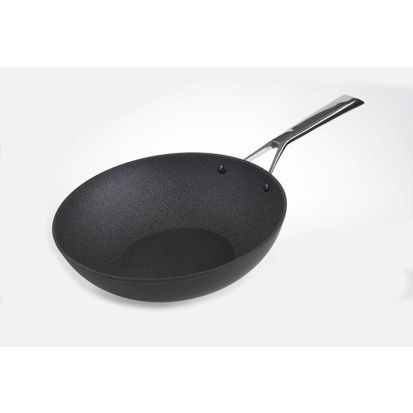 TVS Relance wok - wokpan 28cm – Bakpan – Koekenpan inductie – Inductie pannen – Keramische pan – Pannenset inductie – Zwart