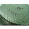 Natura 100% Recycled - kookpan Ø 24 cm met glasdeksel  - met groene plantaardige VEGAN anti-kleefcoating - PFOS-PFOA vrij -  ook geschikt voor inductie