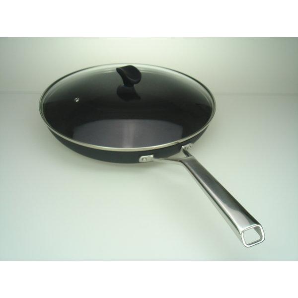 TVS Relance Koekenpan 32cm – Bakpan – Koekenpan inductie – Inductie pannen – Keramische pan – Zwart - Nu tijdelijk met GRATIS glasdeksel !