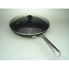Relance Koekenpan 28cm – Bakpan – Koekenpan inductie – Keramische pan – Zwart  - nu tijdelijk met GRATIS glasdeksel !