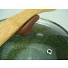 Natura 100% Recycled - steelpan Ø 18 cm - met groene plantaardige VEGAN anti-kleefcoating - PFOS - PFOA vrij - ook geschikt voor inductie