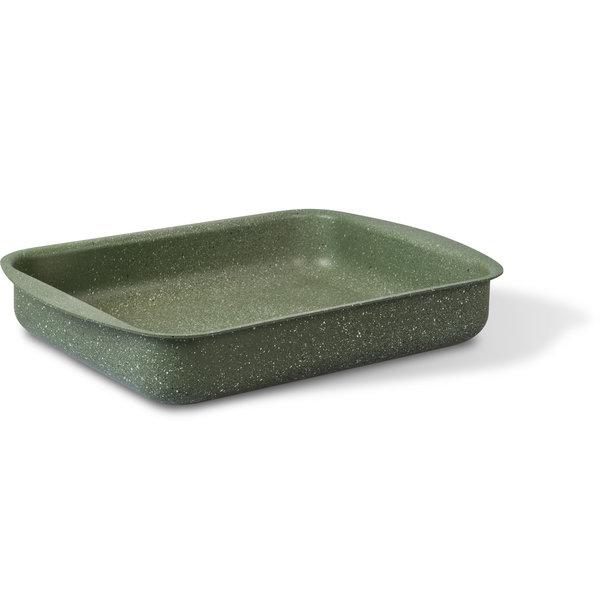RZ-Kookgerei Natura 100% recycled ovenschaal braadslede 35x27cm - met PFOS-PFOA vrije groene anti-kleeflaag coating Vegetek