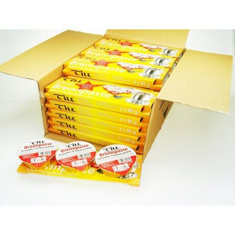 24 x TILL - Brandpasta - pure reukloze kwaliteit - 24 x Set van 3 kuipjes a 80 gram  -  voor elke Fondue-brander - schone en veilige Duitse kwaliteit