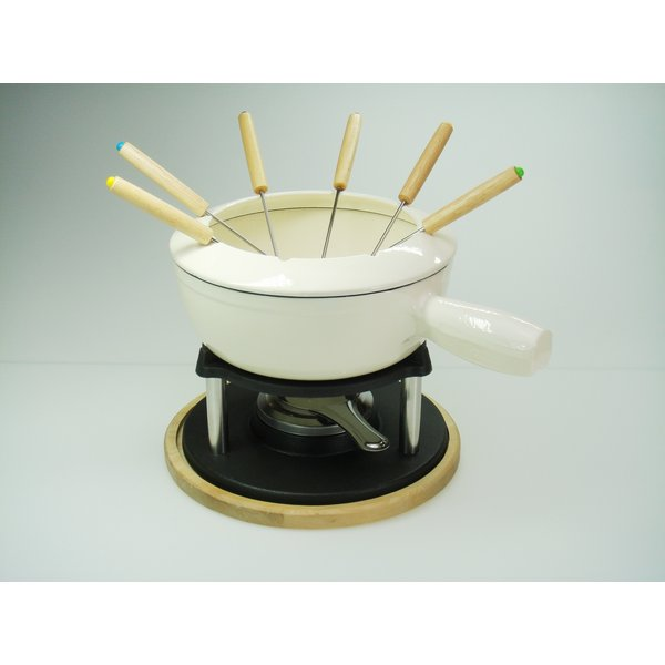 Relance Fondue set - gietijzer - Ø 22 cm. - Kaasfondue, vleesfondue, bouillon-fondue, Chocolade fondue
