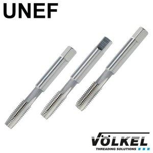 Völkel Handtappenset 3dlg, conisch, ISO 529, HSS-G, UNEF 3/8 x 32