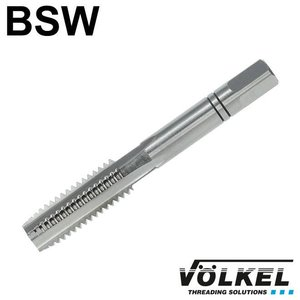Völkel Handtap middensnijder, ≈ DIN 352, HSS-G, linkse draad BSW 1/4 x 20
