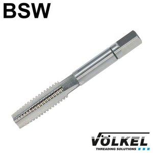 Völkel Handtap voorsnijder, ≈ DIN 352, HSS-G, linkse draad BSW 9/16 x 12