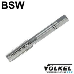 Völkel Handtap middensnijder, ≈ DIN 352, HSS-G, linkse draad BSW 9/16 x 12