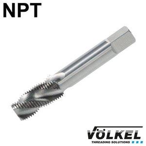 Völkel Korte machinetap, HSS-G, vorm C / 35° RSP, NPT3/8 x 18