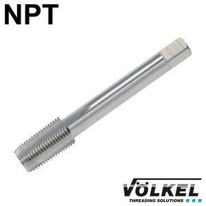 Völkel Korte machinetap, HSS-G, vorm C, linkse draad NPT1/2 x 14