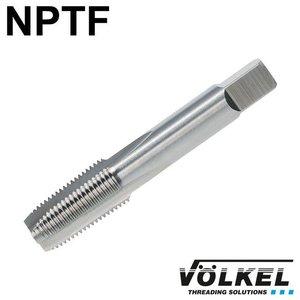 Völkel Korte machinetap, HSS-E, vorm B met schilaansnijding, NPTF3/8 x 18
