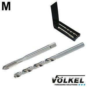 Völkel TwinBox machinetap + spiraalboor, DIN 371, HSS-E, vorm B met schilaansnijding, M3 x 0.5