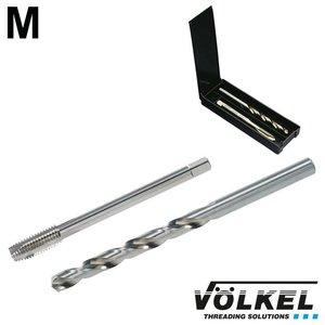 Völkel TwinBox machinetap + spiraalboor, DIN 376, HSS-E, vorm B met schilaansnijding, M14 x 2.0