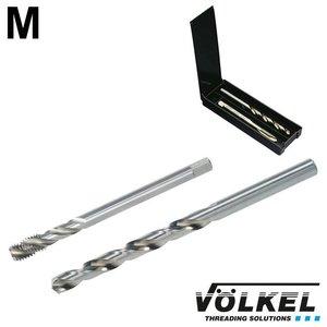 Völkel TwinBox machinetap + spiraalboor, DIN 376, HSS-E, vorm C / 35° RSP, M14 x 2.0