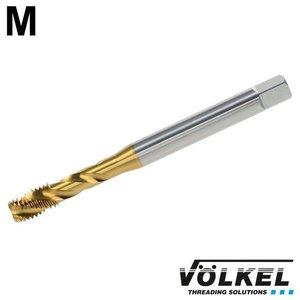 Völkel Machinetap, DIN 371, HSS-E TiN, vorm C / 35° RSP met rechtsspiraal, M 10 x 1.5