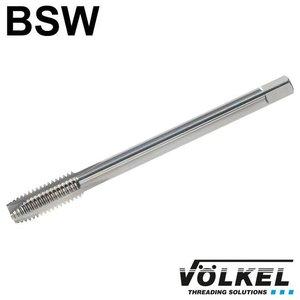 Völkel Machinetap, ≈ DIN 376, HSS-E, vorm B met schilaansnijding, BSW 1.1/4 x 7