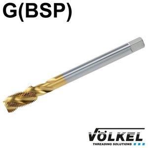 Völkel Machinetap, DIN 5156, HSS-E TiN, vorm C / 35° RSP met rechtsspiraal, G 3/8 x 19
