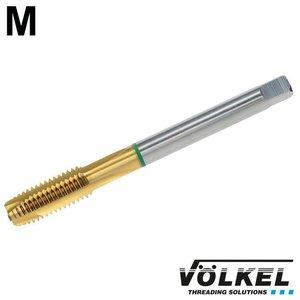 Völkel Machinetap GROENRING PM, DIN 376, HSS-E PM TiN, vorm B met schilaansnijding, M 12 x 1.75