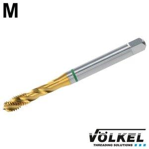 Völkel Machinetap GROENRING PM, DIN 371, HSS-E PM TiN, vorm C / 39° RSP met rechtsspiraal, M 10 x 1.5
