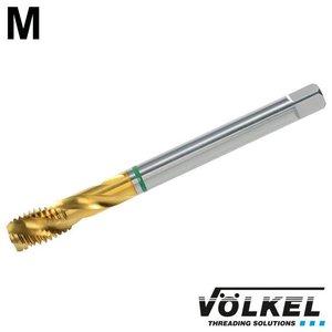 Völkel Machinetap GROENRING PM, DIN 376, HSS-E PM TiN, vorm C / 39° RSP met rechtsspiraal, M 14 x 2.0