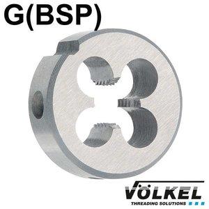 Völkel Snijplaat, DIN 5158 (DIN EN 24231), HSS, linkse draad G1'' x 11
