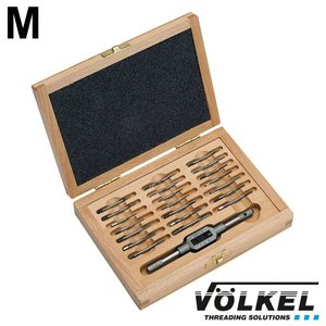 Völkel Mini-handtappenset metrisch 22dlg, M 1 - 2.6