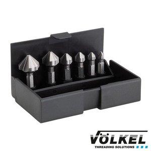 Völkel Verzink-bit-set 6dlg, HSS, Ø 6.3 - 20.5mm