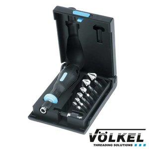 Völkel Verzink-bit-set 8dlg, HSS, Ø 6.3 - 20.5mm