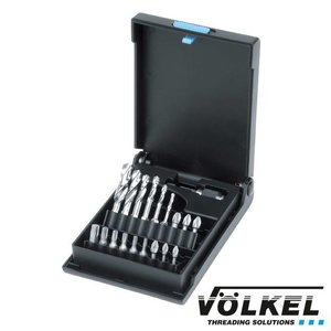 Völkel Spiraalboor-bit-set voor metaal 19dlg, HSS-G, Ø 3.0- 10.0mm