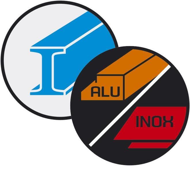 Voor staal, inox en non-ferrometalen