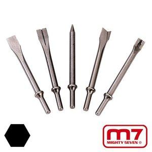 Mighty-Seven 5 beitels met 10mm zeskante beitelaansluiting