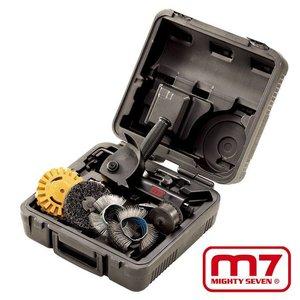 Mighy-Seven Pneumatische borstelmachine set 3.600Rpm 6delig
