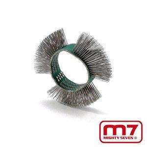 Mighy-Seven Rechte metalen borstel t.b.v. QB802 borstelmachine