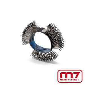 Mighy-Seven Metalen borstel met haken t.b.v. QB802 borstelmachine